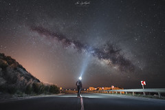 Searching for the galaxy (Alex Apostolopoulos) Tags: galaxy longexposure milkyway night nightphotography road stars flashlight sky