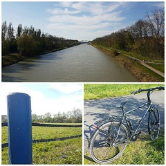 Sonntag auf dem Rad genießen. Auf dem Rückweg haben wir dafür bestimmt tollen Rückenwind...! Stimmte irgendwie noch nie... Egal die Sonne war herrlich.