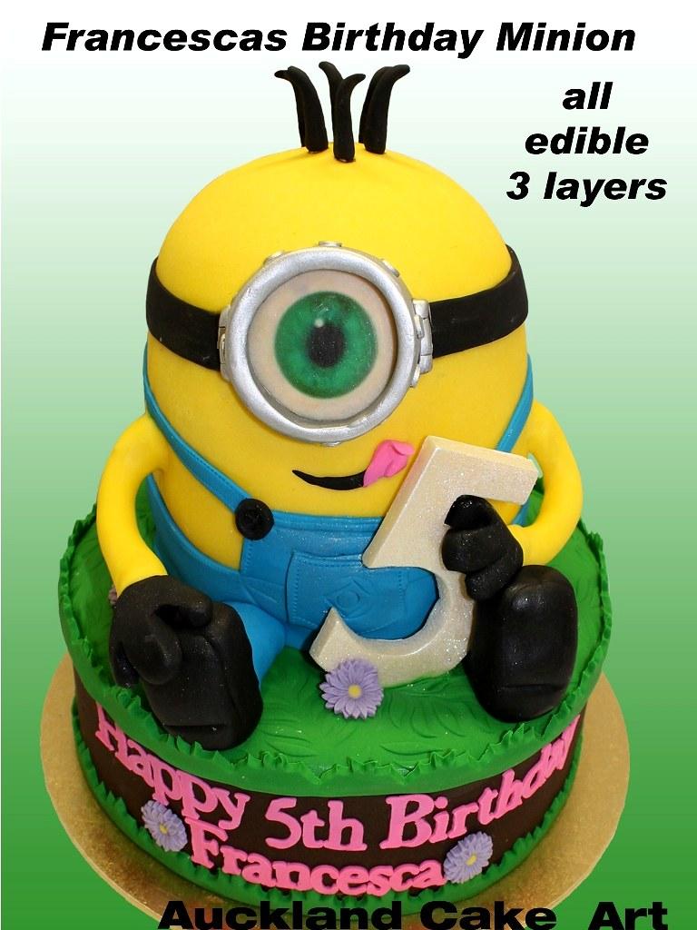 Anita (Auckland Cake Art)) Tags: minion cute five 5 3d large birthday ...
