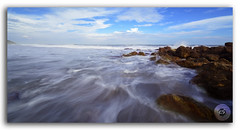 Beautiful silky smooth water at Yarada Beach, Visakhapatnam (FotographyKS!) Tags: yarada beach rock outdoor tide water sea smooth ocean wallpaper destination background sand clouds sky seascape nature reflections landscape stone abstract cloudscape horizon summer evening colorful weather beauty shore scenery tropical coastline cliff bayofbengal indianocean village gangavaram dolphinnose boulders vibrant resort beache longexposure visakhapatnam vizag india milky dreamy