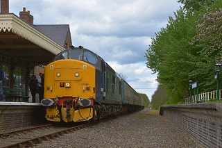 Former DRS Loco 37688 on a photo stop at Hardingham. Mid Norfolk Railway Sring Diesel Gala. 01 05 2017