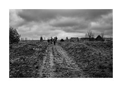 Rainy day (Jan Dobrovsky) Tags: leica ukraine volyň blackandwhite countrylife countryside document drama landscape monochrome outdoor people rain village contrast grain