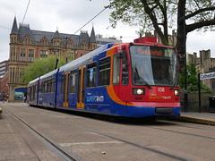 Sheffield Supertram 108 (Boothby97) Tags: sheffieldsupertram tram siemensduewag 750vdc 750vdcelectric sheffield stagecoach yorkshire cathedral supertram108 yellowline