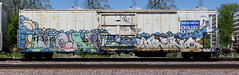 Hot Carl/Enron (quiet-silence) Tags: graffiti graff freight fr8 train railroad railcar art carl hotcarl enron armn reefer unionpacific chilledexpress e2e endtoend armn933015