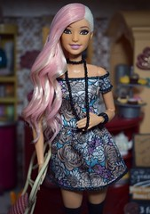 Custom Fashionista :) (Doll Affinity) Tags: ooak barbie custom reroot freckles flock flocking doll dolls affinity fashionista made move pink pretty cute cafe portrait