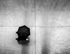 Five (R*Wozniak) Tags: umbrella street pov nikond750 nikon 35mm urbanscene blackwhite bw blackandwhite black rain monochrome candid city contrast