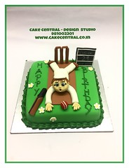 Cricket Cake #firstbrthday #designercake #delhi #fondant #themed #kidscake #cricket #cake #noida #gurgaon (Cake Central-Design Studio) Tags: firstbrthday designercake delhi fondant themed kidscake