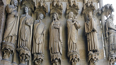 Amiens Cathedral, right portal jamb figure