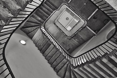 Inversion (Douguerreotype) Tags: england london monochrome uk blackandwhite urban british buildings mono stairs spiral city architecture britain gb bw helix steps