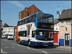 17493, Church Street. (Jason 87030) Tags: 17493 lx51fmo alx400 trident dennis alexander stagecoach 31 hillmorton squirrel pub town churchst strrt rugby warks warwickshire sony alpha a6000 ilce nex lens flickr may 2017 sunny transport doubledecker vehicle