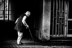 prisoner of age (Zlatko Vickovic) Tags: streetstreetphoto streetphotography streetphotographybw streetbw streetphotobw blackandwhite monochrome zlatkovickovic zlatkovickovicphotography novisad serbia vojvodina srbija