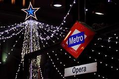 METRO OPERA NAVIDADES (VITE007) Tags: metro subway madrid night lights street christmas navidad