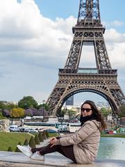 P4270844 (ivanpecina1) Tags: paris parisien torreeiffel eiffel tower france portrait girl trocadero olympus omd em5 micro43 francia