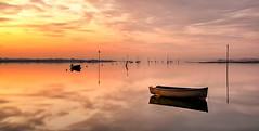 Becalmed (Solent Poster) Tags: sunrise sunset emsworth harbour becalmed seascape landscape uk pentax k1 2470mm