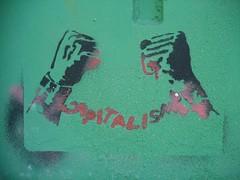 Capitalisme (emilyD98) Tags: street art st nazaire insolite chantier naval port pochoir stencil pont capitalisme hands mains wall mur