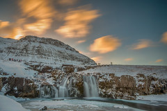 Moving clouds@Kirkjufellsfoss, Iceland (FollowingNature) Tags: kirkjufellsfoss iceland waterfalls followingnature snow winter sunset