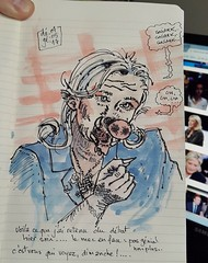C'est vous qui voyez, dimanche prochain ... #lepen #macron #debat #sketch (dege.guerin) Tags: macron lepen debat sketch