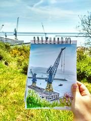 Croquis Jardin de Kerbonne (Cécile Kery Hocquet) Tags: urban sketcher usb usk uskfrance croquis brest dessin aquarelle
