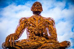 Or Maybe Just Happy (Thomas Hawk) Tags: america bayarea burningman california eastbay karencusolito oakland usa unitedstates unitedstatesofamerica westcoast sculpture fav10 fav25 fav50 fav100