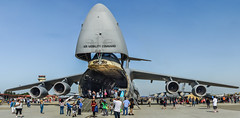 big mouth strikes again lll (pbo31) Tags: travis airforcebase airshow solanocounty plane us airforce aviation bayarea california may 2017 spring america color nikon d810 boury pbo31 blue panoramic large stitched panorama crowd c5