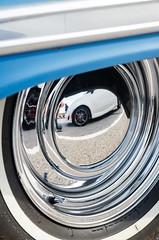 Smoothie mirror (GmanViz) Tags: gmanviz color car automobile detail nikon d7000 1959 chevrolet stationwagon wheel tire chrome
