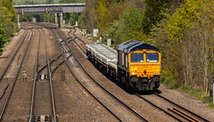 GBRF Class 66/7 no 66773 at Tupton on 10-05-2017 with the Doncaster to Toton Engineers. (kevaruka) Tags: tuptonbridge tupton derbyshire britishrail networkrail class66 gbrf sun sunshine sunny sunnyday colour colours color colors canon canoneos5dmk3 canon5dmk3 canonef100400f4556l 5d3 5diii 5d 5dmk3 countryside england yellow green spring may 2017 kevinfrost flickr frontpage ilobsterit railfreight railway rail trains train transport 66770