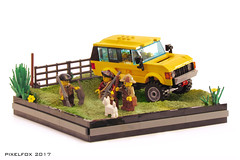 Range Rover Classic (Pixel Fox) Tags: 4x4 lego offroad diorama range land rover