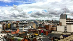 #birdseyeview over #belfastcity #centre #samsonandgoliath #obelbuilding #smithfield #cathedral #cathedralquarter #harlandandwolff #panarama #landscapephotography #photography #photographer #aspiretoinspire #cityscape #bestoftheday #bestofbelfast #document (AspirePhotography1) Tags: instagramapp square squareformat iphoneography uploaded:by=instagram