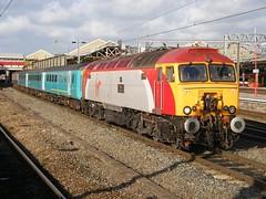 57308 Crewe 11/11/2008 (Brad Joyce 37) Tags: 57308 class57 virgintrains locomotive engine diesel crewe cheshire mk2 sunshine station