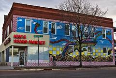 Kim's Asian Market (TwinCitiesSeen) Tags: mural saintpaul minnesota twincities twincitiesseen canont3i tamron2875mm snellingavenue