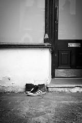 IMG_2301 (Kathi Huidobro) Tags: reality adidas shoes discarded urbanscene bw monochrome streetphotography southlondon london streetfinds blackwhite