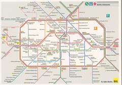 Berliner S - und U-Bahn-Netz (selphie10) Tags: map maps railway subway train stations station trainstation berlin transportation germany german lines cityview city berliners ubahn postcard postcrossing postcards official officialpostcard