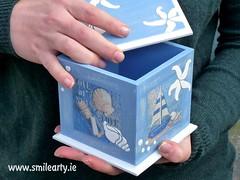 Blue-White Nautical Box (Smile Arty) Tags: gift present vintage handmade decoupage crafts arts diy nautical box summer