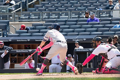 Astros second baseman Jose Altuve strikes out in the first inning. (apardavila) Tags: houstonastros josealtuve mlb majorleaguebaseball newyorkyankees yankeestadium yankees yanks baseball sports