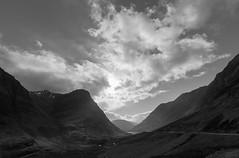 Glencoe Light (Mark Alan Andre) Tags: markalanandre scotland travel unitedkingdon landscape monochrome black white bnw bw mountain glencoe