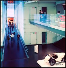 In the BMW Museum_Rolleiflex 3.5B (ksadjina) Tags: 6x6 bmwmuseum c41 carlzeisstessar35 germany kodakektar100 nikonsupercoolscan9000ed rolleiflex35b silverfast analog film scan vividcolors münchen