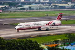 Far Eastern Air Transport McDonnell Douglas MD-82 | B-28021 (HarenWang) Tags: 台灣 臺灣 taiwan taipei travel fly flying veiw views trip traveling photography 航空 airport aircraft aviation taipeisongshanairport tsa songshan 松山 松山機場 松山國際機場 機楊 international 國際 臺北松山機場 飛機 航空器 青空 空 青 濱江市場 濱江街 far eastern air transport mcdonnell douglas md82 b28021 fat 遠東航空 遠航 線條 噴射飛機 fareasternairtransport
