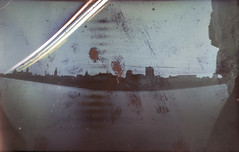 3 weeks in a soup can (Narval Mitai) Tags: ilford photographic paper solargraph solargraphy sun long exposure pinhole camera stenopé beer can