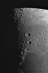 Eudoxus, Aristoteles and the Lake of Death (Zeta_Ori) Tags: eudoxus aristoteles lacusmortis lakeofdeath explorescientific3xbarlow moon moondetail luna lunarterminator crater craters lunarlandscape explorescientificed80apo explorescientific celestronadvancedvxmount zwoasi290mm registax monochrome blackandwhite bw contrast texture