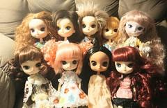 Dal Doll Group Picture (Sew Dorky Dollies) Tags: dal daldoll lizbel monomono tweety charlotte satti maretti byul tigerlily fiori