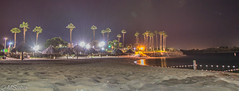 Night view of the beach by the Resort (MrSaha) Tags: night view beach by resort nikon d52000 dslr panaromic tall wide nature landscape manual earth top bright dim shadow light around look travel happy life lively adventure globe world lonely peace peaceful calm quiet moment sharp clear soft beautiful capture red blue green color colors vivid vibrant legend dark nightlight evening lowlight long exposure lamppost tree leaves branches plants flower root grass hay lake water river pond reflection stream wet flow ocean island