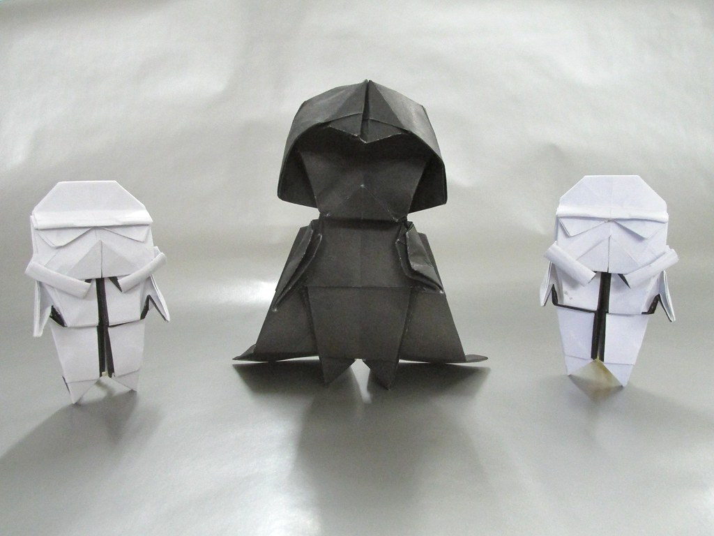 The Worlds Most Recently Posted Photos Of Darth And Origami