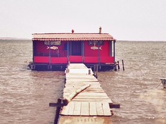 The red house of the fisherman (Nikos Karatolos) Tags: kalochori thessaloniki delta axiou greece mussel houses abandoned samyang 50mm f12