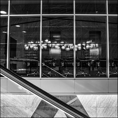 Rotterdam, the Netherlands (désirée van der straten) Tags: buildingtherotterdam rotterdam thenetherlands pentax k5 remkoolhaas architecture blackwhite erasmusbridge reflection wilhelminapier meetingroom