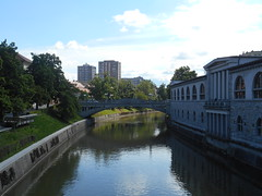 Ljubljanica river (pantkiewicz) Tags: slovenia ljubljana ljubljanica river