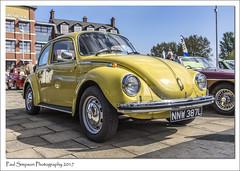 Yellow Volkswagen Beetle (Paul Simpson Photography) Tags: volkswagenbeetle volkswagen beetle germancar classiccar scunthorpe transport sonya77 carshow 1973 1970s imagesof imageof photoof photosof april2017 yellowbeetle bug lincolnshire classiccarshow nnw387l