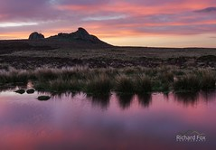 Rose Reflections (http://www.richardfoxphotography.com) Tags: darmoor reflection haytor holwelltor holwellpool redskies sunrise outdoors tor granite