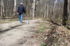 Kevin and Dooley, A Walk in the Park (marylea) Tags: apr22 2017 hudsonmillsmetropark hudsonmills walk kevin dooley spring springtime