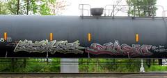 strype - enem (timetomakethepasta) Tags: strype enem kts freight train graffiti art tanker nm benching selkirk new york photography
