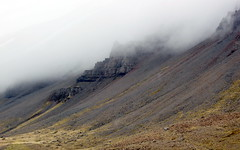 low clouds (kexi) Tags: iceland europe nature clouds low mountains mountainside steep rocks dark erosion north rugged wild canon may 2016 white brown instantfave view landscape paysage wallpaper